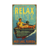 Relax Boy in Boat Sign - Relax