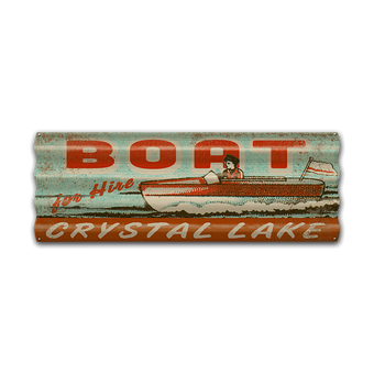 Boat for Hire Corrugated Sign