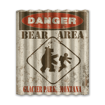 Danger Bear Area Corrugated Sign