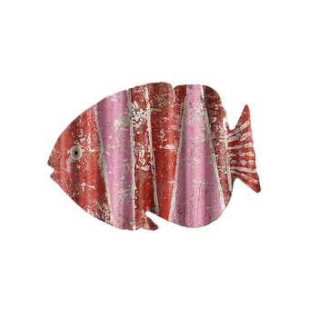 Corrugated Red Pink Fish Sign