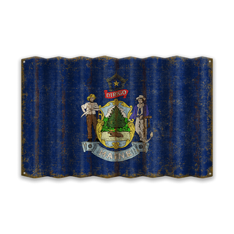 Maine Corrugated State Flag