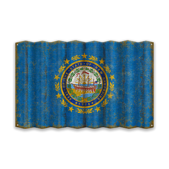 New Hampshire Corrugated State Flag