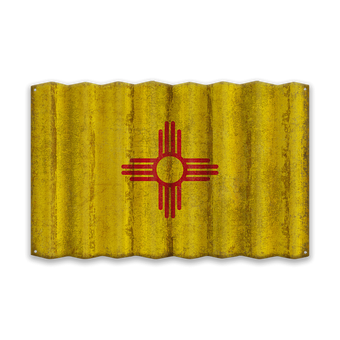 New Mexico Corruagated State Flag