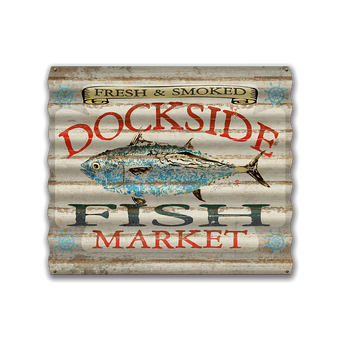 Dockside Fish Market Sign