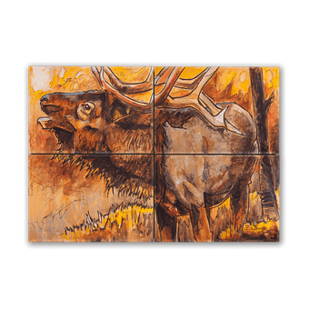 Afternoon Elk 4 Piece Box Art