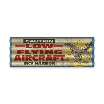 Low Flying Aircraft Corrugated Sign