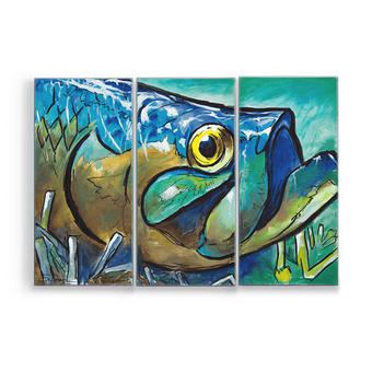 3-Panel Tarpon Fish Box Art
