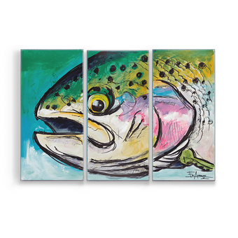 Rainbow Trout Aluminum Box Art by Ed Anderson