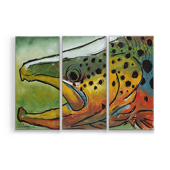 Colored Brown Trout Aluminum Box Art Ed Anderson