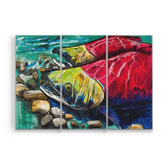 Sockeye Aluminum Box Art by Ed Anderson