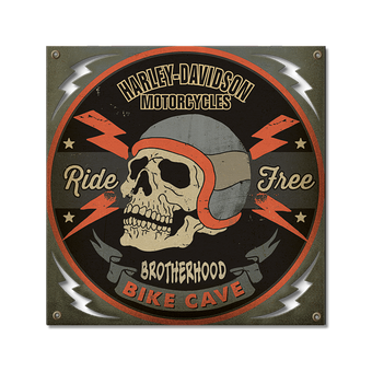 Harley-Davidson® Personalized Bike Cave Sign