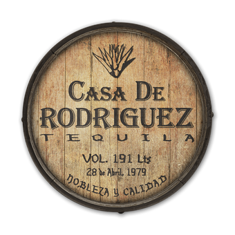 Casa de Tequila - Barrel End Wooden Sign