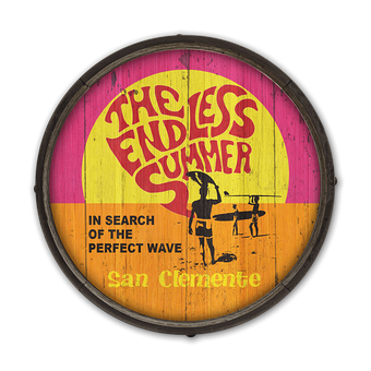 Endless Summer Wave 1 - Barrel End Wooden Sign