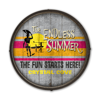 Endless Summer Fun Starts - Barrel End Wooden Sign