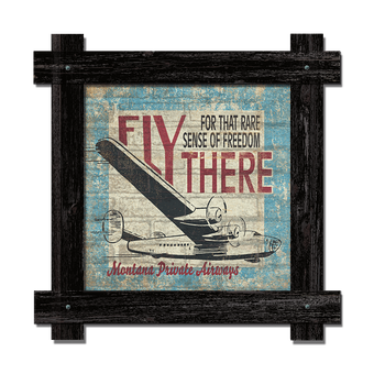 Fly There Brick Sign