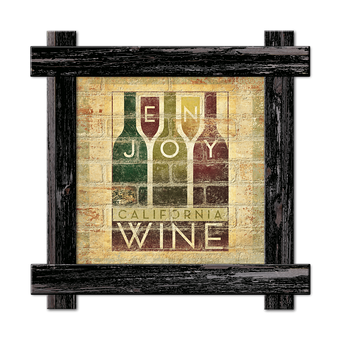 Enjoy Wine Brick Sign