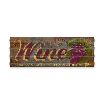 Time for Wine Corrugated Sign