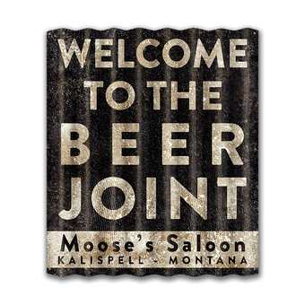 Welcome To The Beer Joint - Corrugated Metal Sign