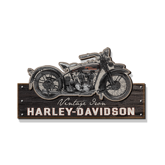 Harley-Davidson® Motorcycle Silhouette Cut Up Sign