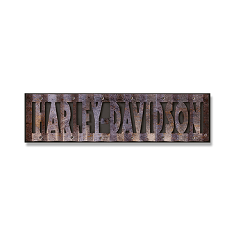 Harley-Davidson® Cut-Out Corrugated Sign