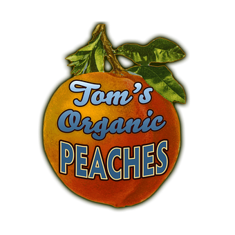 Peaches (Shaped Sign)