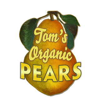 Pears (Shaped Sign)