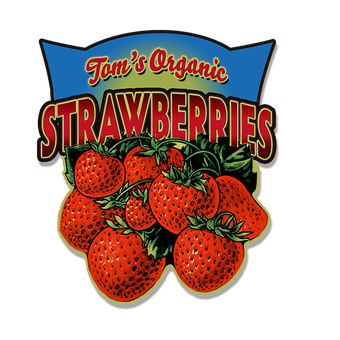 Strawberries (Shaped Sign)
