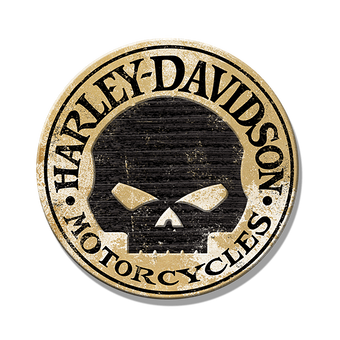 Harley-Davidson® Routered Skull Round Sign