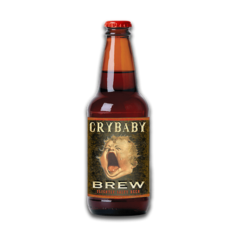 Crybaby Brew Beer Bottle Cut Up Sign