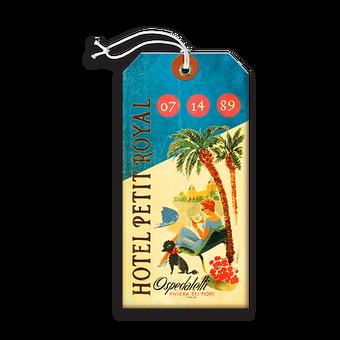 Official Royal Hawaiian Hotel Luggage Tag