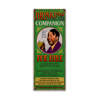 Drinking Companion for Hire Sign