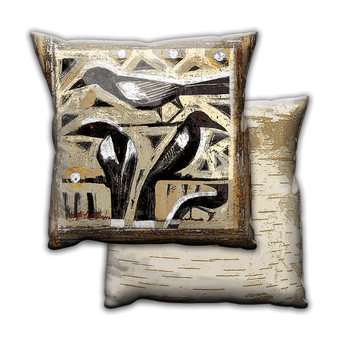 Whimsical Blackbirds - Pillow