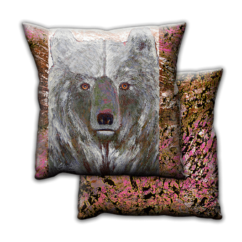 Wise Grey Bear - Pillow