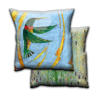 Happy Hummer 1 Hummingbird - Pillow