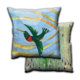 Happy Hummer 2 Hummingbird - Pillow
