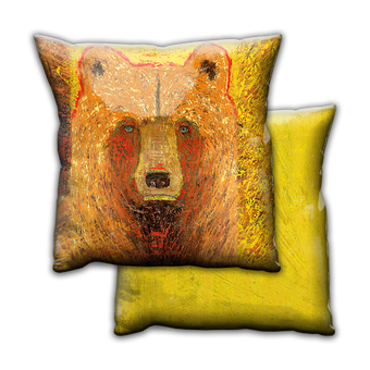 A Bear Named Hawk - Pillow