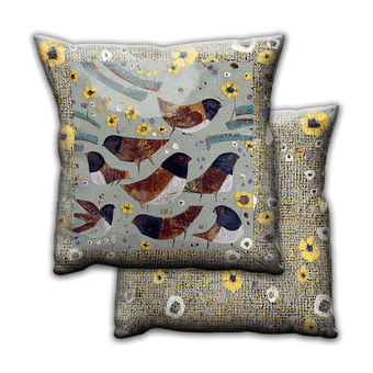 Juncos Birds in June 2 - Pillow