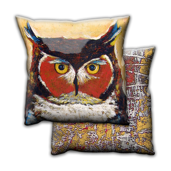 Knowing Owl - Pillow