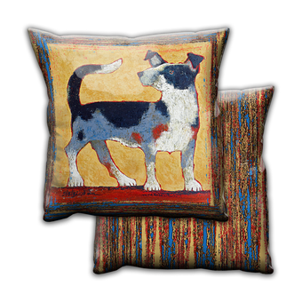 Lil Rustler Heeler Dog - Pillow