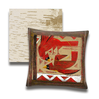Cardinal Red Birds - Pillow