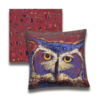Old Sage Owl - Pillow