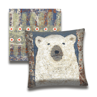 Yukon Polar Bear - Pillow