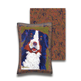 Bernie The Bernese Mountain Dog - Pillow