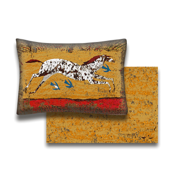 Rambling Rose Painted Horse - Pillow