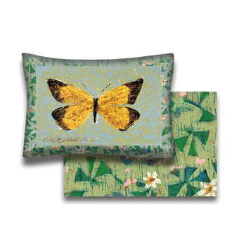 Orange Sulphur Butterfly - Pillow