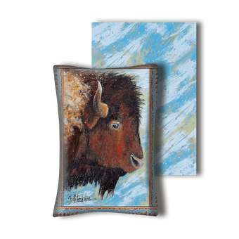 Windswept Buffalo - Pillow