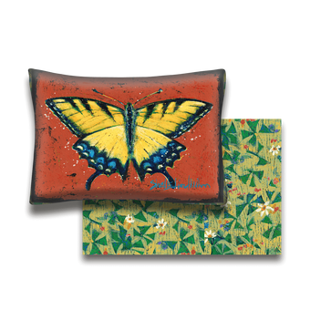 Yellow Swallowtail Butterfly - Pillow