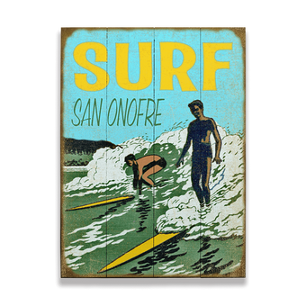 Surfers Ride the Wave Sign