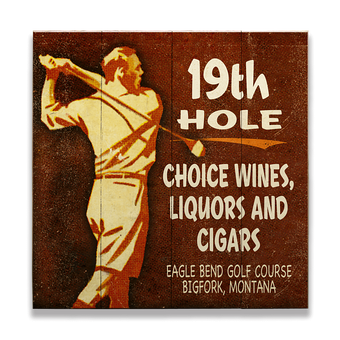 19TH Hole Golfers Lounge Sign