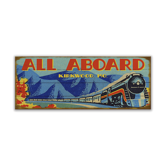 All Aboard Sign